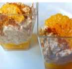 Light vanilla cream, Spekuloos crumble and fresh orange