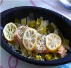 Lemon zest and herb fresh catch Papillote